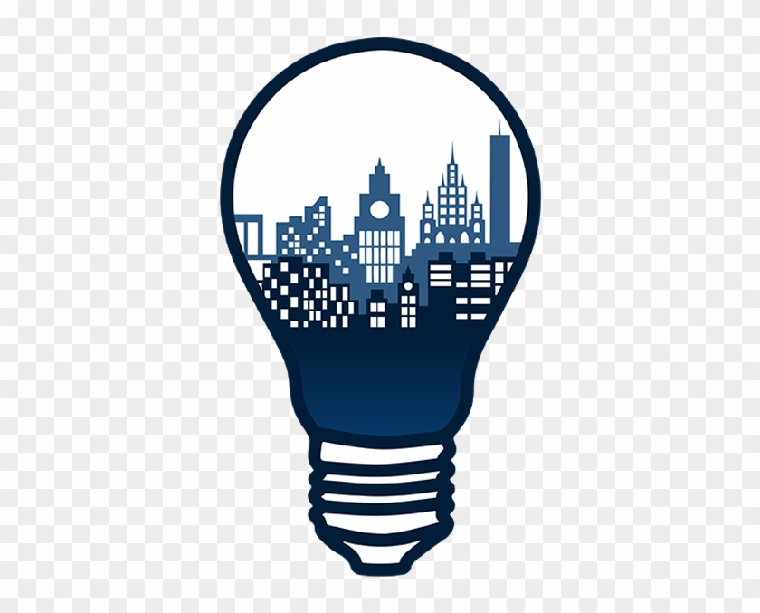 Logo Cities Unused Final Draft By Kevin - Smart City Light Bulb #1401270