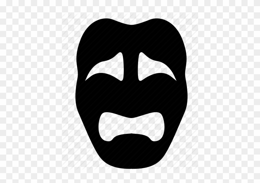 Sad Theater Mask Png Clipart Mask Theatre Clip Art - Drama Sad Face Mask #1401658