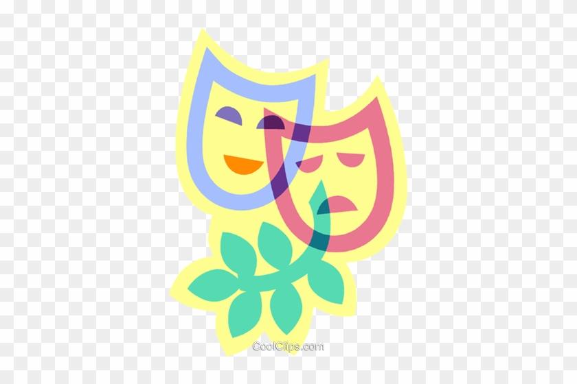 Drama Masks Royalty Free Vector Clip Art Illustration - Illustration #1401673