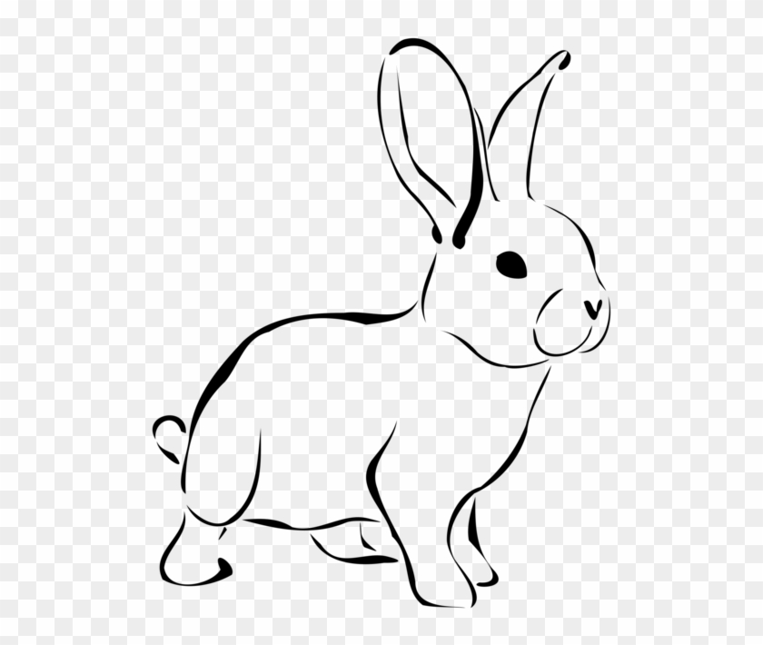 All Photo Png Clipart - Rabbit Black And White #1401724