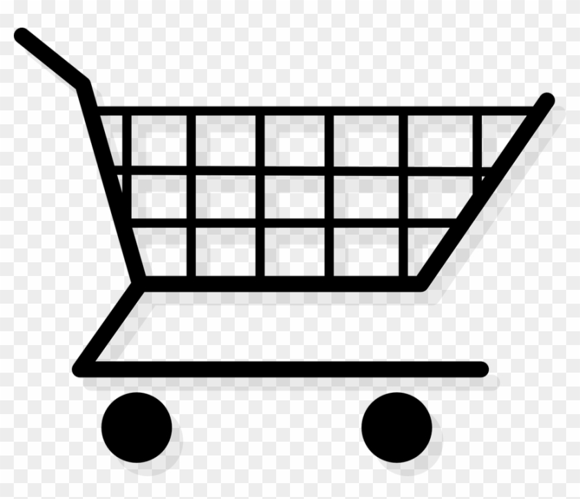 Trolley Clipart Grocery Cart - Clipart Shopping Cart #1402181