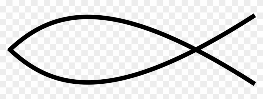 Christian Fish Thin Line - Christian Fish Transparent Background #1402955