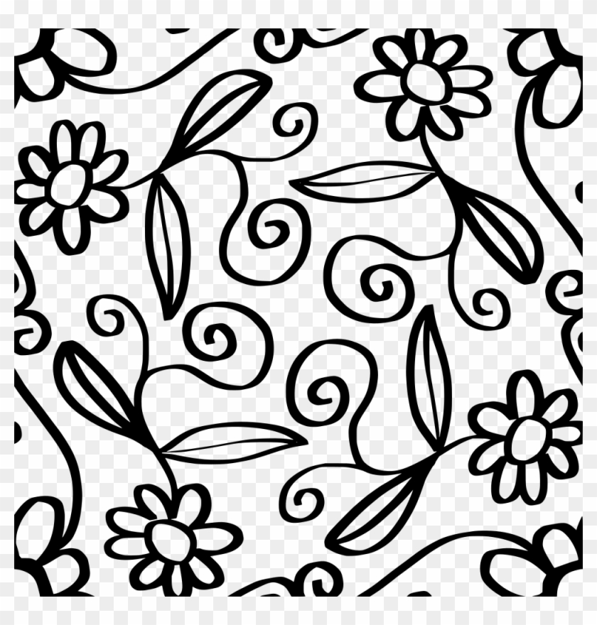 Tile Drawing Clip Art - Flower Abstract Floral Designs #1404807