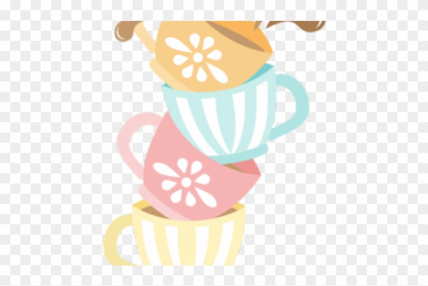 Kettle Clipart Stacked Tea Cup - Stacked Tea Cups Png #1404906