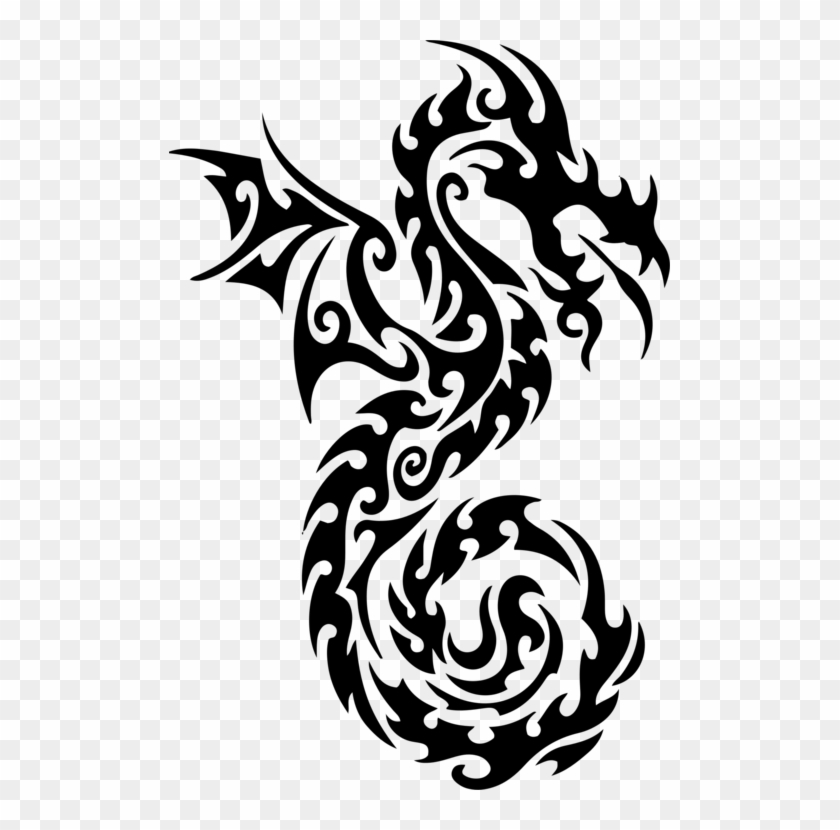 Free Tattoo Chinese Dragon Japanese Dragon Drawing - Dragon Basic Drawing Tribal #1405355
