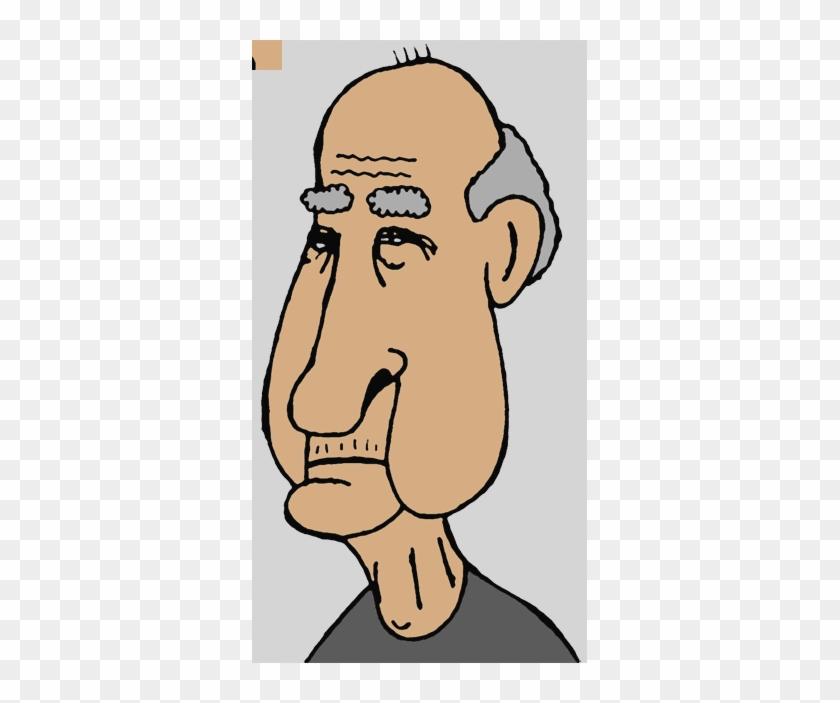 Old Man Face Clip Art #1405933