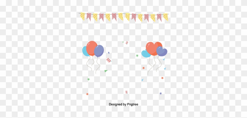 Balloon Banner Party Decorative, Vector Material, Rave - Party #1406646