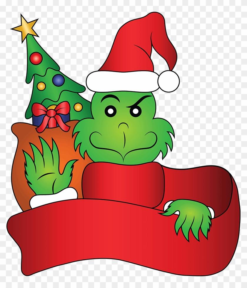 Hats Clipart Grinch - Santa Claus #1406924