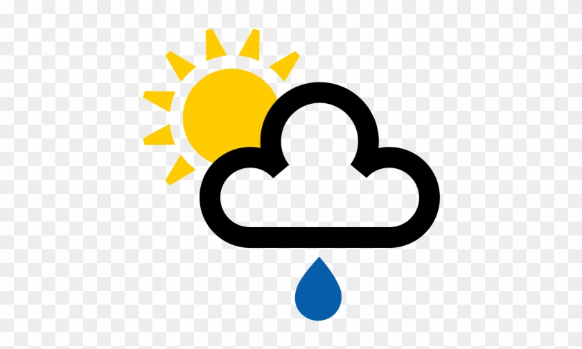 Sun And Cloud Weather Symbol #1408326
