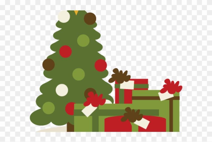 Christmas Tree Clipart Scrapbook - Presents Under Christmas Tree Clipart #1409492