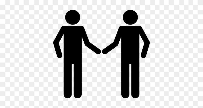 Shaking Hands Silhouette Vector - Icono De Personas De La Mano #1409711