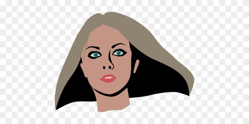 Brown Hair Cosmetics Beauty Face - 女性 外国 人 イラスト #1409919