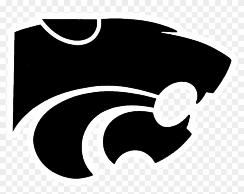 Edison Wildcats - K State Logo Black And White #1410773