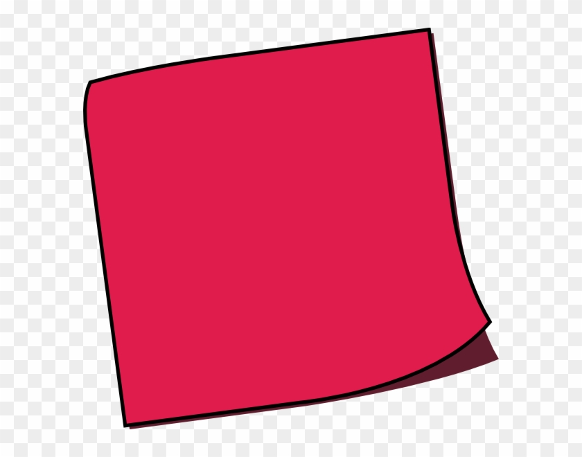 Off Red Sticky Note Clip Art At Clker - Red Post It Note #219309