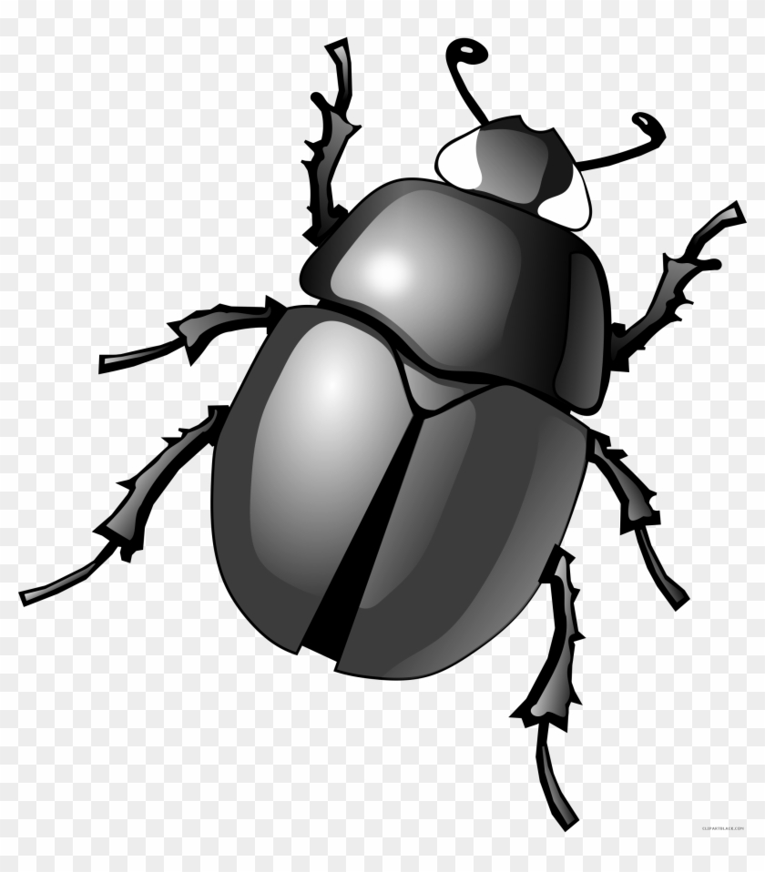Awesome Bug Animal Free Black White Clipart Images - Beetle Png #219384