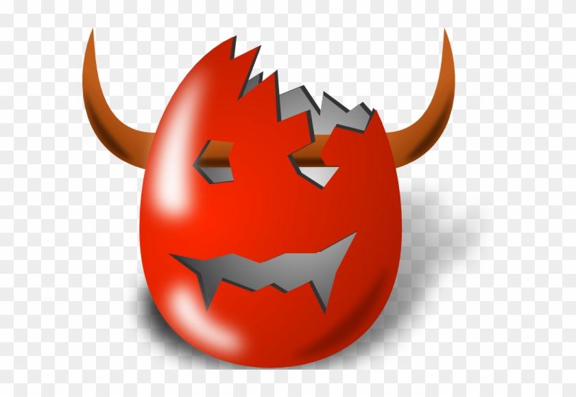 Free Vector Broken Wicked Easter Egg Shell Clip Art - Easter Egg Decorating Ideas #219518