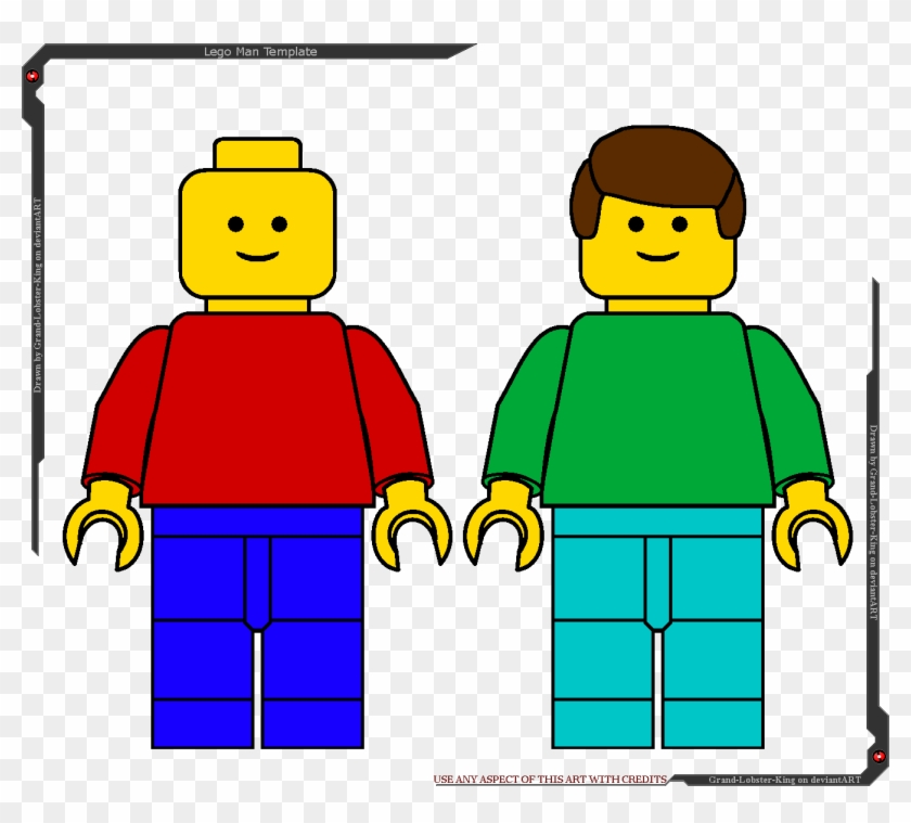 lego man template by grand lobster king lego guy clipart free