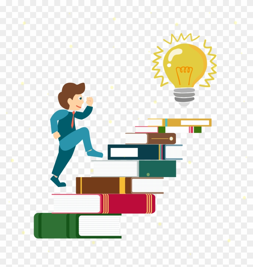 Books Are The Ladder Of People On Board - Ideas Vectores Png #219812
