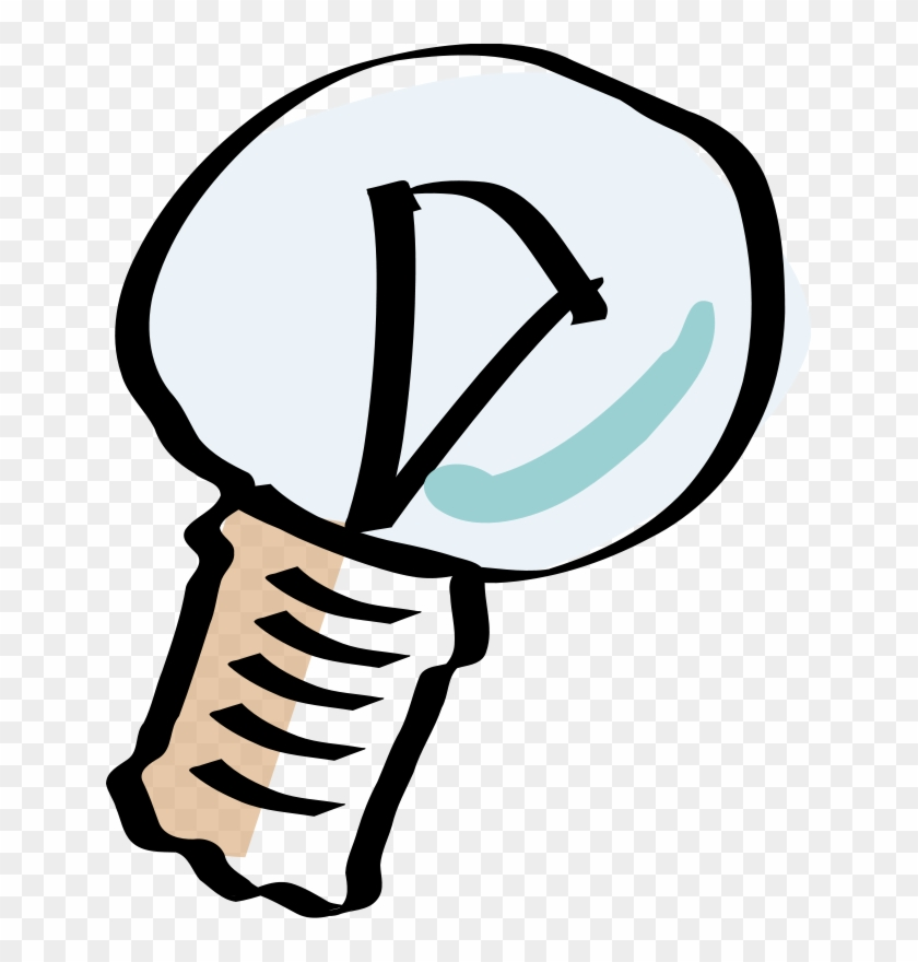 Free Vector Cartoon Light Bulb Clip Art - Cartoon Light Bulb Off #219837