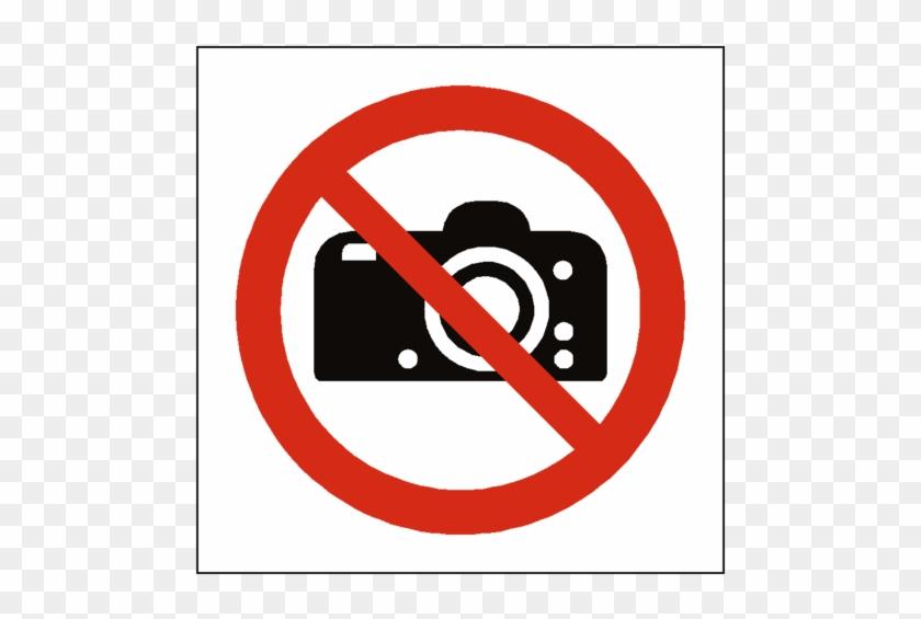 No Photography Symbol Label Safety-label - No Photography Symbol #219928