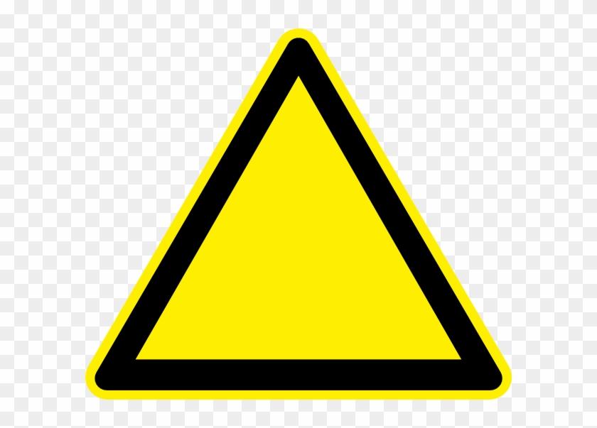 8959 Blank Warning Sign Clip Art Public Domain Vectors - Blank Yellow Warning Sign #220111