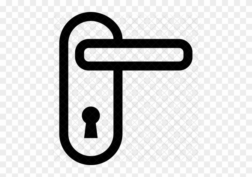 Door, Handle, Tag, Lock, Safety, Room Icon - Door Lock Icon #220136