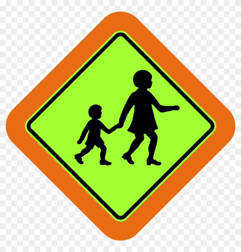 Open - School Crossing Sign Australia #220200