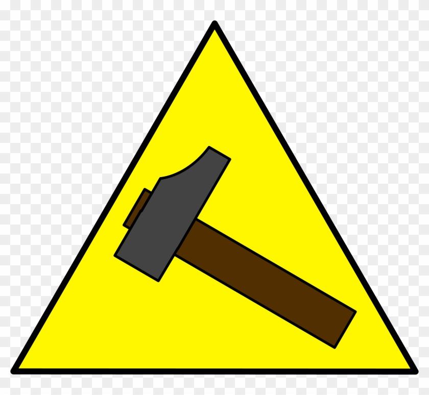 Free Vector Hammer Sign Clip Art - Signo De La Oz Y El Martillo #220272
