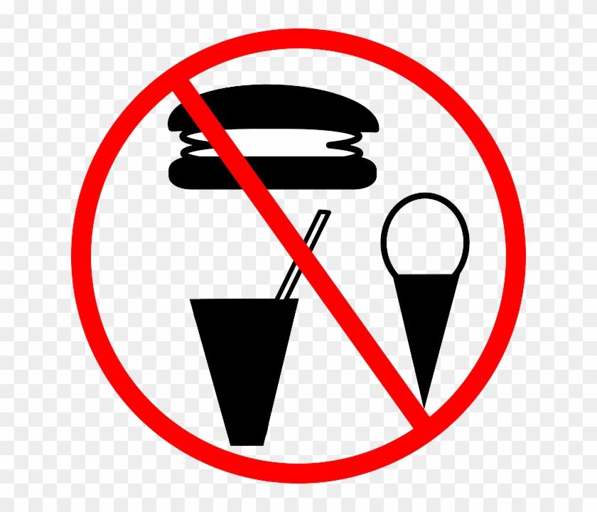 Forbidden Banned, Drinks, Food, Warning, Prohibited, - No Junk Food Symbol #220285