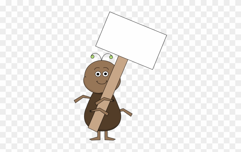 Ant With A Blank Sign - Holding Blank Sign Clipart #220352