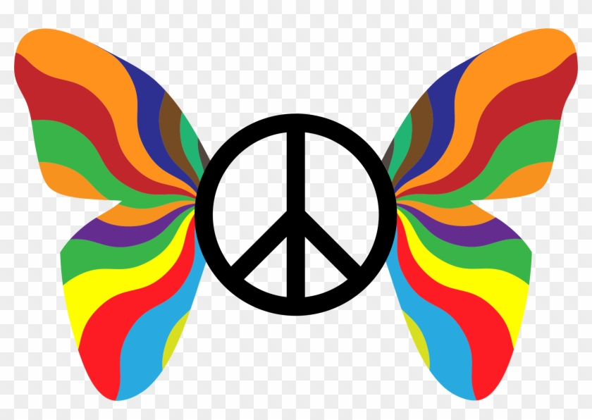 Peace Sign Clipart Groovy Symbol Of Peace And Love Free