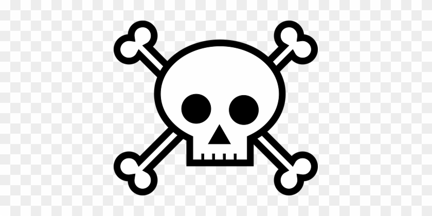 Death's Head Bones Crossbones Pirate Skull - Draw A Skull And Crossbones #220556