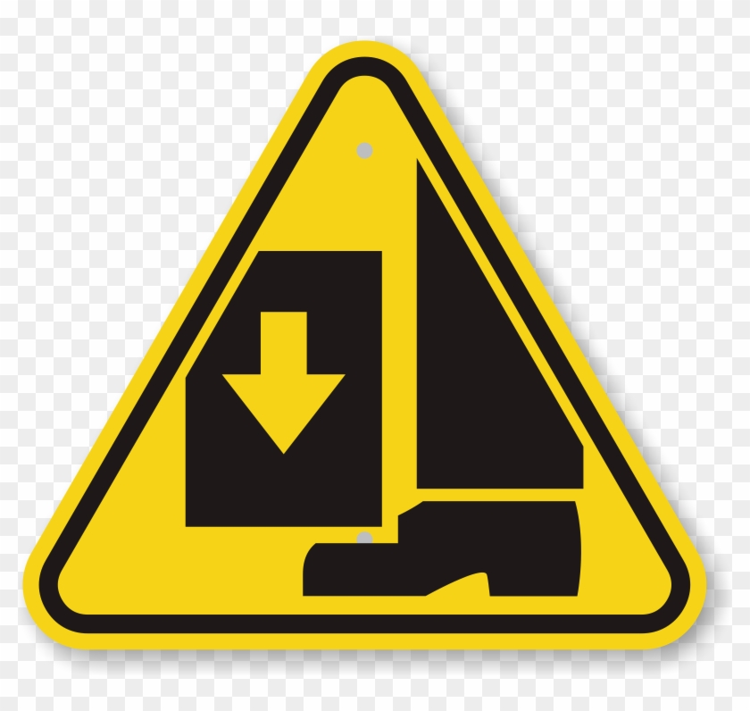 Caution Triangle Symbol - Foot Crush Safety Sign #220866