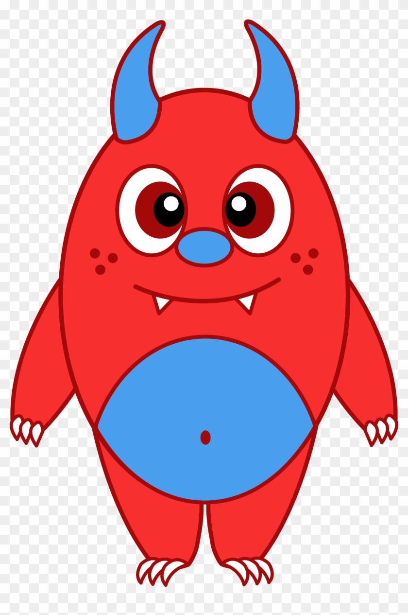 Inspiring Monsters Clip Art Medium Size Inspiring Monsters - Cute Red Monster #220926
