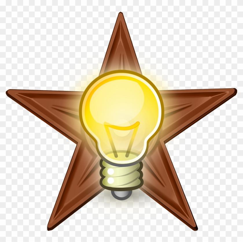 Brilliant Idea Barnstar Hires - Idea Original Png #221079