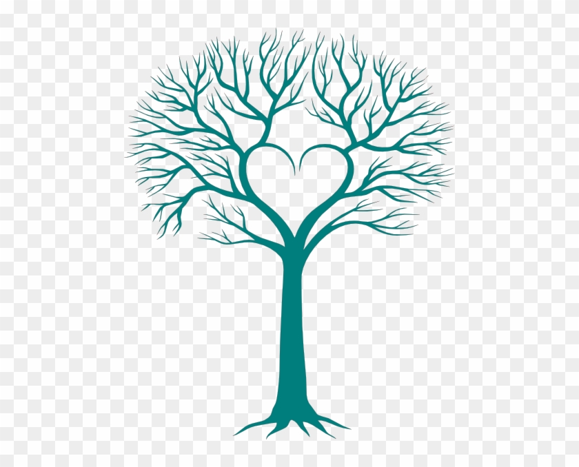 Family Tree With Heart Clip Art - Tree With Heart #221099