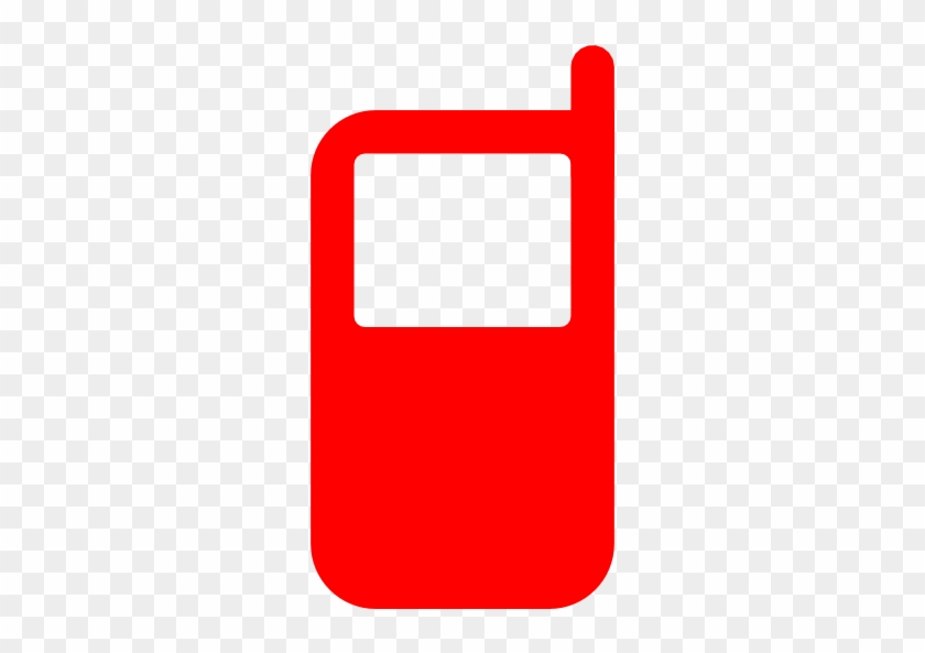 Phone Clipart Red Cell - Red Cell Phone Icon #221138