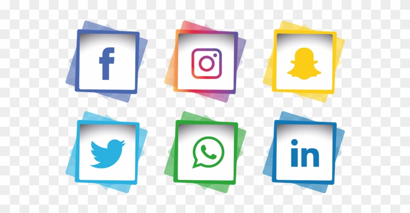 Social Media Icons Set Facebook Instagram Whatsapp, - Facebook Instagram Icon Png #221167
