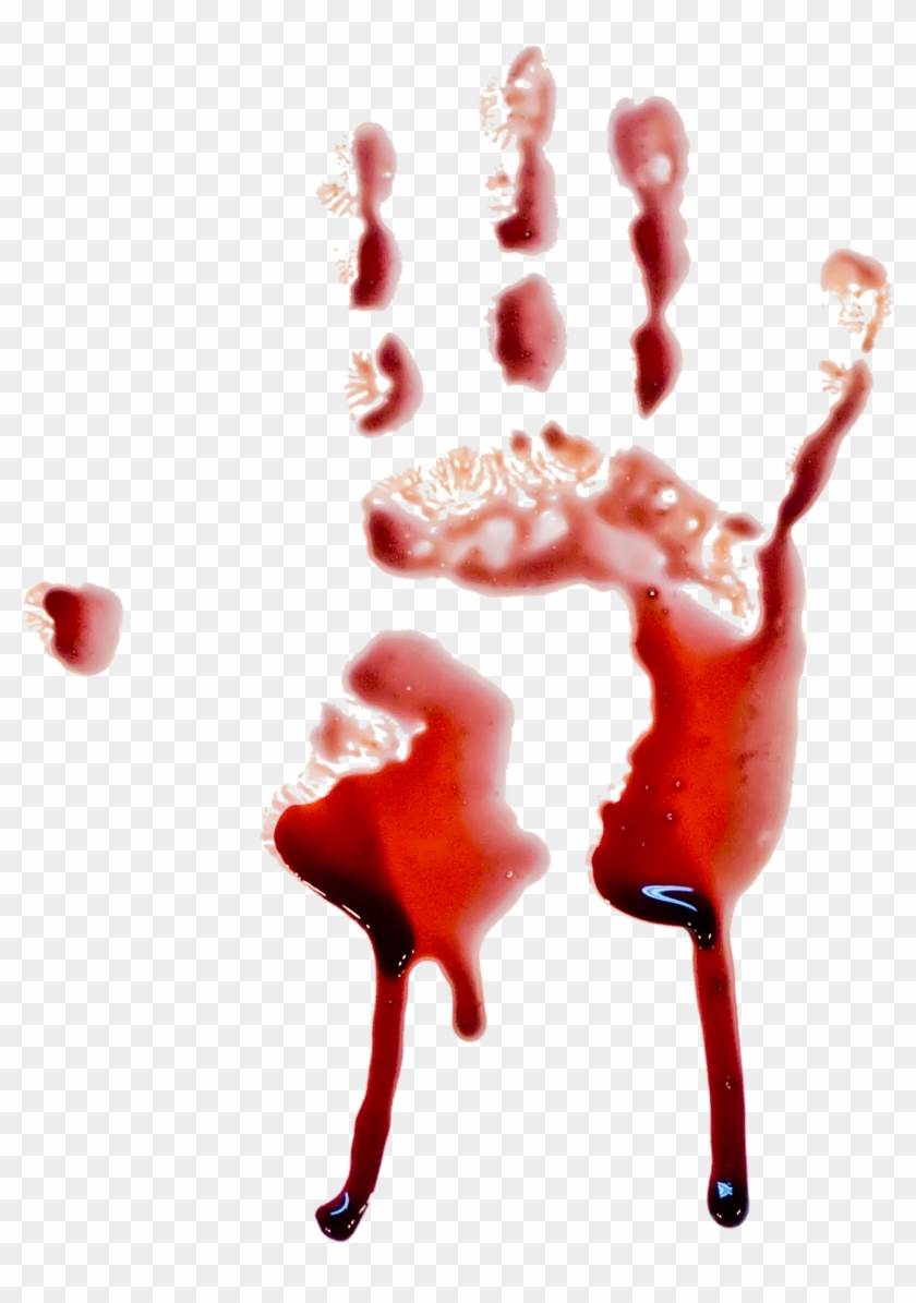 Blood Png Image - Bloody Handprint Transparent Background