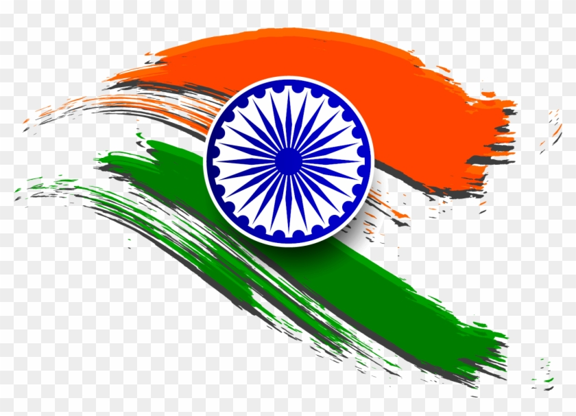 Flag Of India Republic Day Clip Art - Indian Flag Clipart Png #221444