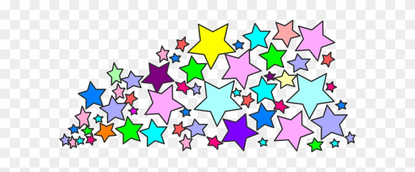 Star Clusters Border Clip Art Page Pics About Space - Colorful Stars Clipart #221546