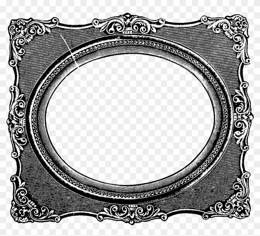 Fancy Oval Frame Clip Art Clipart Panda Free Clipart - Vintage Photo Frame Clipart #221550