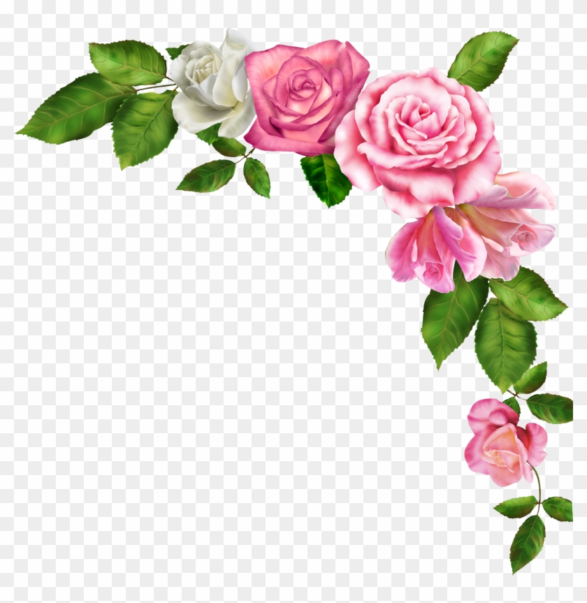 Borders And Frames Pink Flowers Clip Art - Border Line Flower Clipart #221574