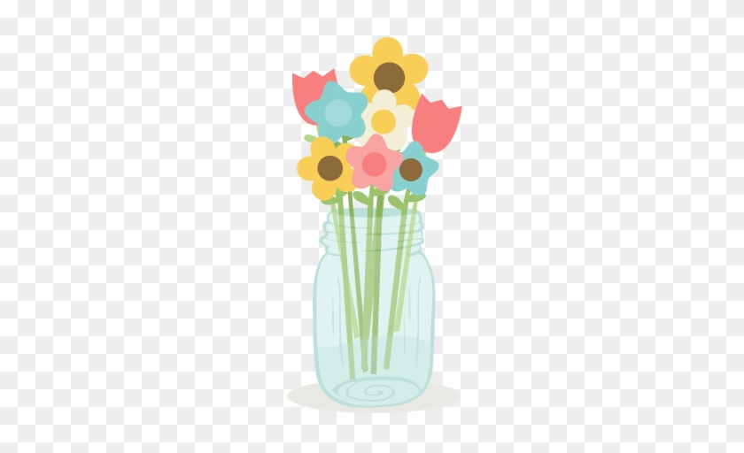Flowers In Mason Jar Svg Cutting Files Doodle Cut Files Flowers Mason Jar Png Free Transparent Png Clipart Images Download