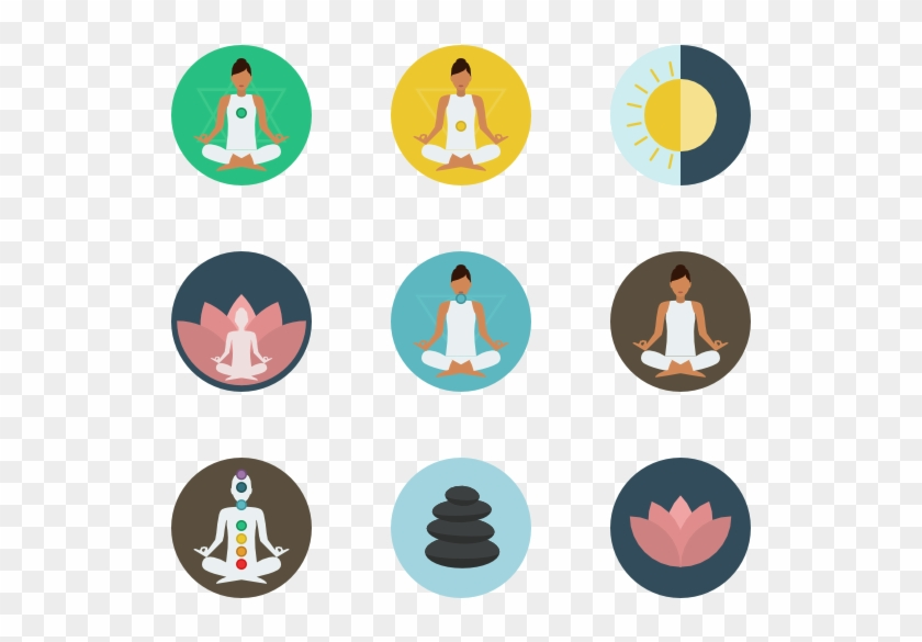 Meditation Yoga Icon Vector Free Transparent Png Clipart Images Download