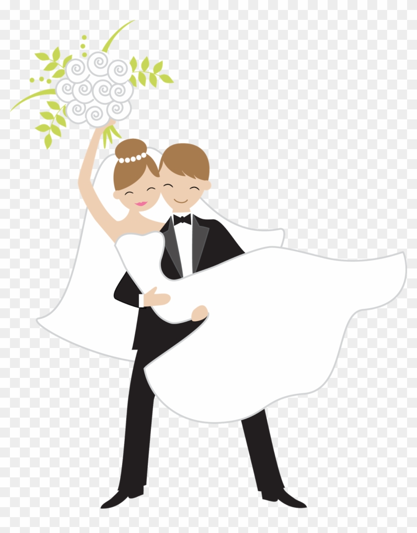 Bride Throwing The Bouquet - Bride And Groom Stickers #221801