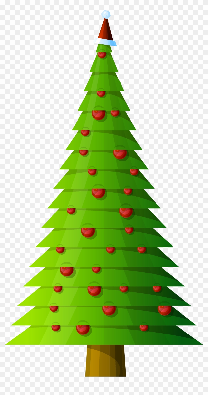 christmas tree modern style transparent png clipart clip art tall skinny christmas tree - Christmas Tree Transparent