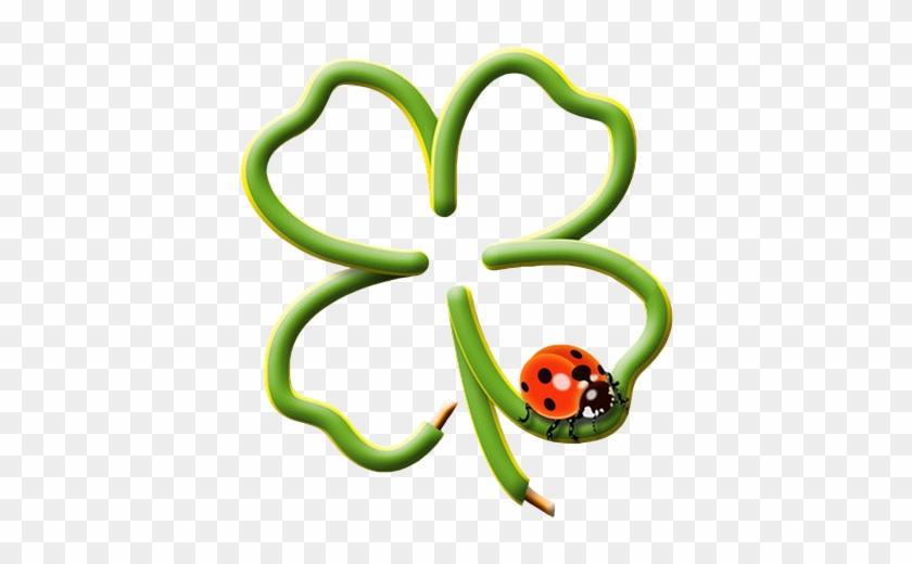 Czterolistna Koniczyna, Drutu - Ladybug On Four Leaf Clover #221956