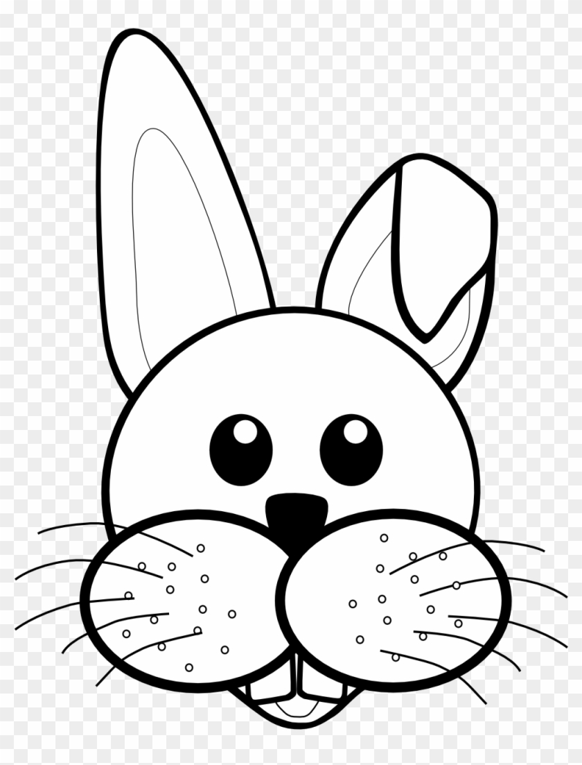 Bunny Black And White Rabbit Face Clipart Black And - Rabbit Face Clipart Png #222334