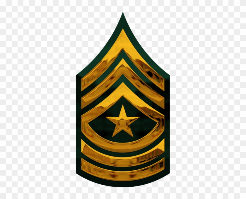 Chrome Us Army E 9 Sgm Psd Official Psds Military Rank - Chrome Us Army Rank #1412875